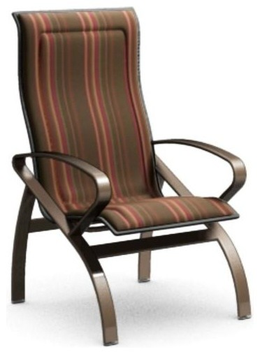 homecrest benton padded sling high back patio dining chair