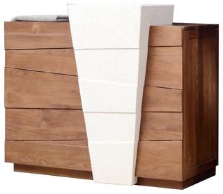 Meuble avec vasque en bois de teck 100 icone campagne console et meuble s - Meuble lavabo avec pied ...