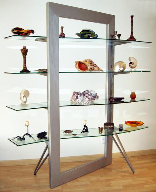 Contemporary Wall Shelves Decorative: Flexam-Glass Shelves
