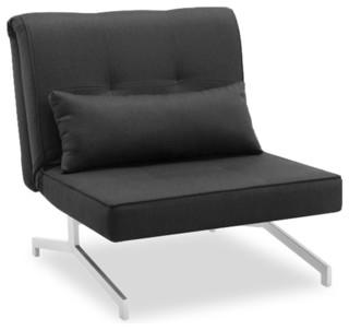 fauteuil convertible bz lit 1 personne gris anthracite. Black Bedroom Furniture Sets. Home Design Ideas
