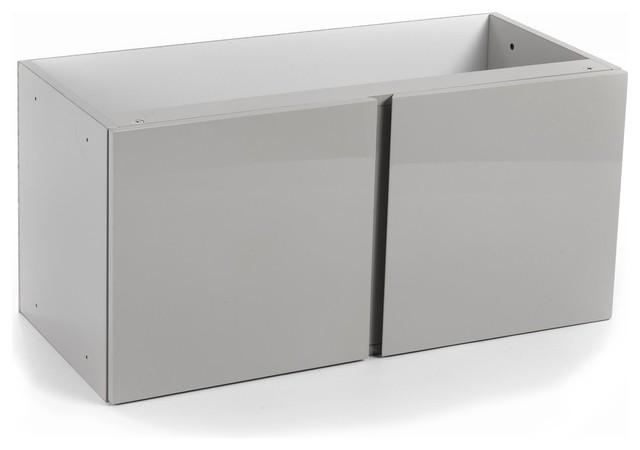 Lorena bloc de 2 portes grises contemporain for Meuble alinea lorena