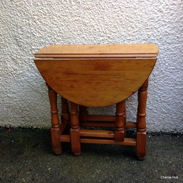 Pine Side Table Small Drop Leaf Table