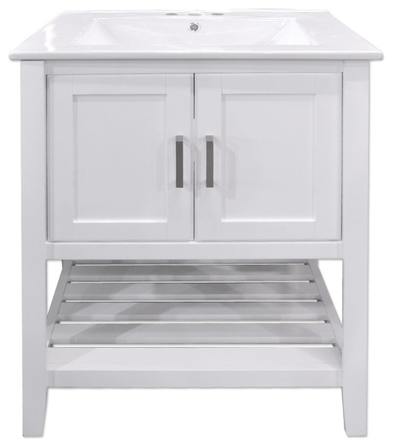 Valerie 24 Vanity White Transitional Bathroom Vanities And Sink Consoles By Seconds