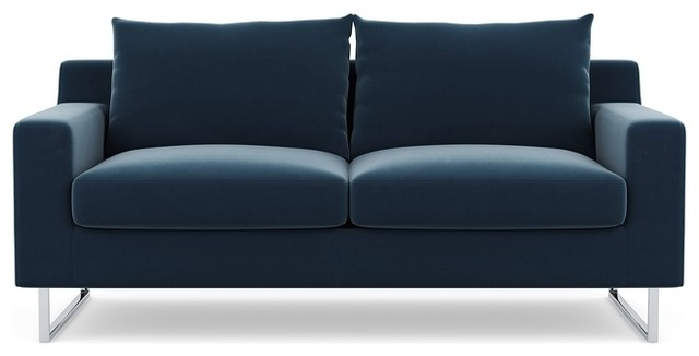 Sapphire Sofa With Chrome Plated Square Outline Legs Interior Define Modern Sofas By