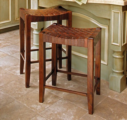 Woven Leather Stools Modern Bar Stools And Counter