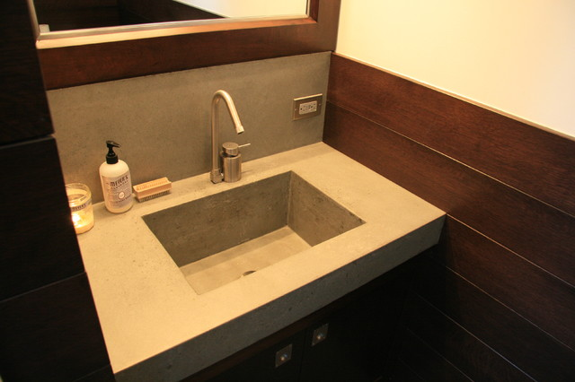 Concrete bathroom sink Contemporary Bathroom Sinks