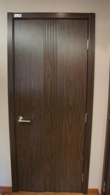 M 34 Contemporary Interior Door Black Walnut