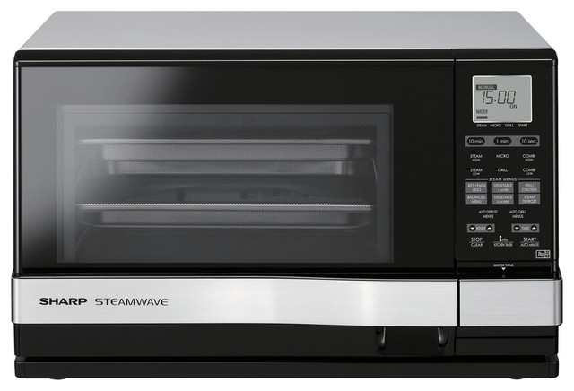 Sharp Steam Grill Amp Microwave Silver Contemporary