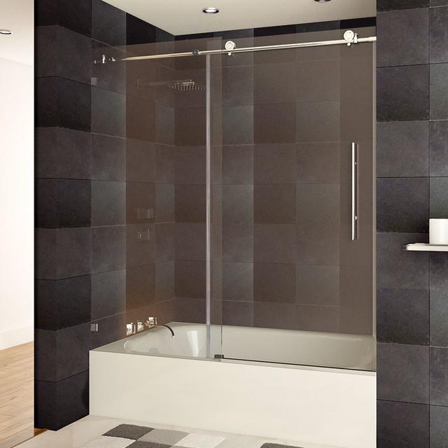 Lesscare Ultra C 56 60 Quot W X 62 Quot H Clear Glass Bath Tub Door