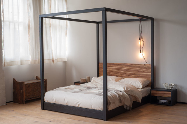 zebrano cube four poster bed contemporary four poster beds yorkshire and the humber by. Black Bedroom Furniture Sets. Home Design Ideas