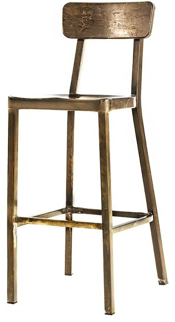 Jacob Stackable Aluminum Bar Stool Aged Metal Industrial Bar Stools And Counter Stools By