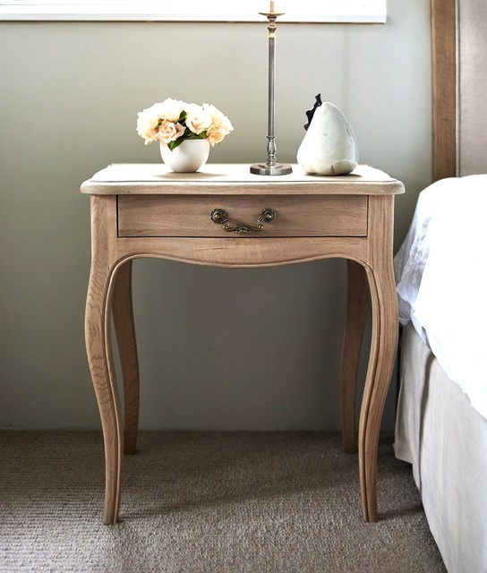 French style bedside table oak traditional for French nightstand bedside table