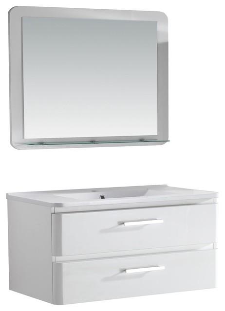 Carat meuble complet sous vasque vasque et miroir - Meuble console moderne ...