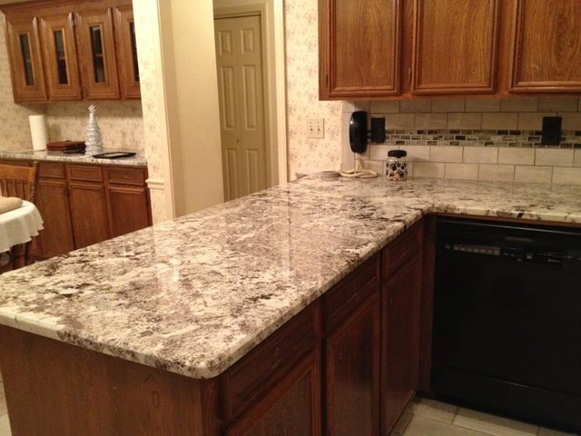 3cm Alaska White Granite With Tile Back Splash