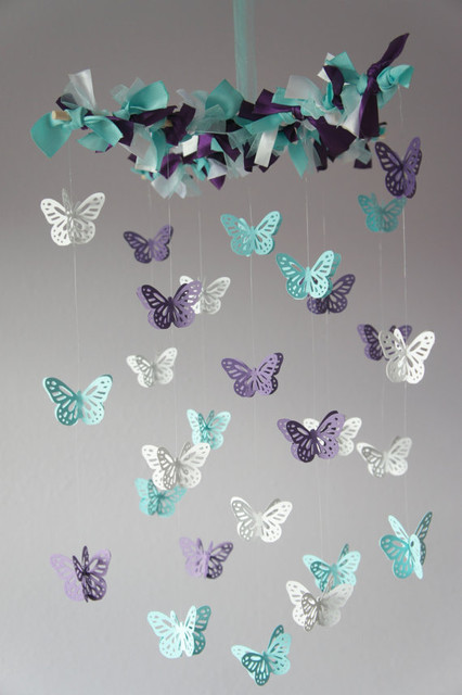 butterfly mobile by lovebug lullabies modern baby. Black Bedroom Furniture Sets. Home Design Ideas