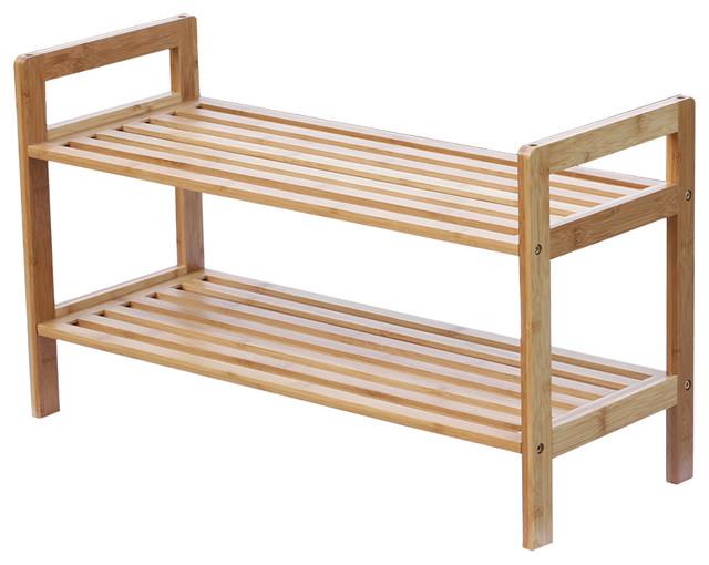 Oceanstar 2 Tier Bamboo Shoe Rack - Contemporary - Shoe Storage - by ...