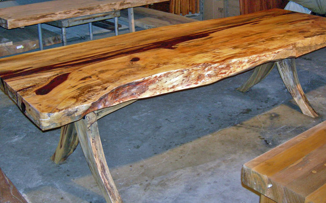 Natural Edge Reclaimed Tamarind Wood Dining Table 3 39 X 8