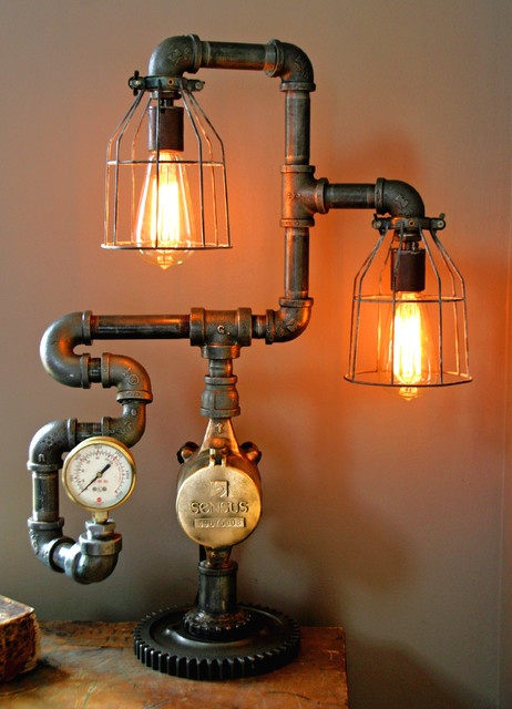 Steampunk Gear Steam Gauge Lamp Eclectic Minneapolis By Machine Age Lamps