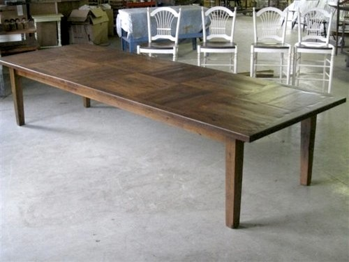 12 39 foot dining table with square inlay farmhouse for 12 ft table