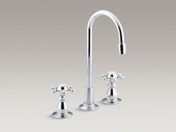 KOHLER Antique three-hole bar sink faucet with 6-prong ...