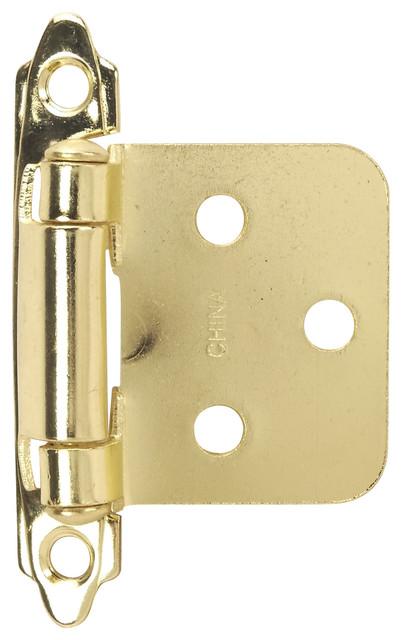 Self-Closing Flush Cabinet Hinge, Pair - Modern - Hinges - by Hardware House