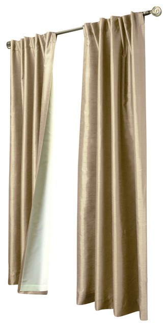 ... Taupe, 52x95 - Transitional - Curtains - by Commonwealth Home Fashions