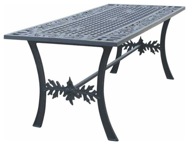 Oak leaf iron coffee table rustic outdoor coffee for Rustic outdoor coffee table