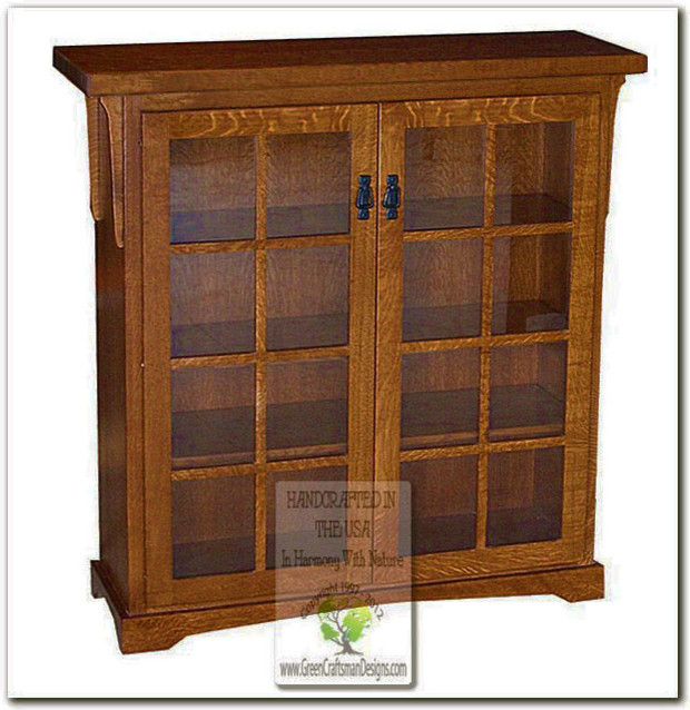Mission bookcases craftsman bookcases chicago by for Craftsman style bookcase plans