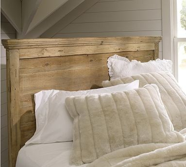 Mason reclaimed wood headboard dresser set full wax Traditional wood headboard