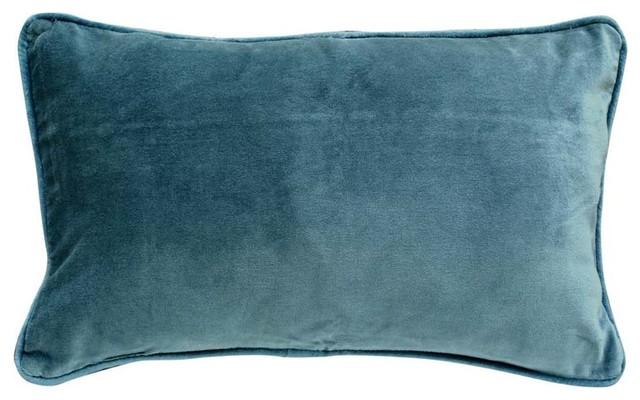 housse de coussin velours bleu 30x50 moderne taie d 39 oreiller et housse de coussin par. Black Bedroom Furniture Sets. Home Design Ideas