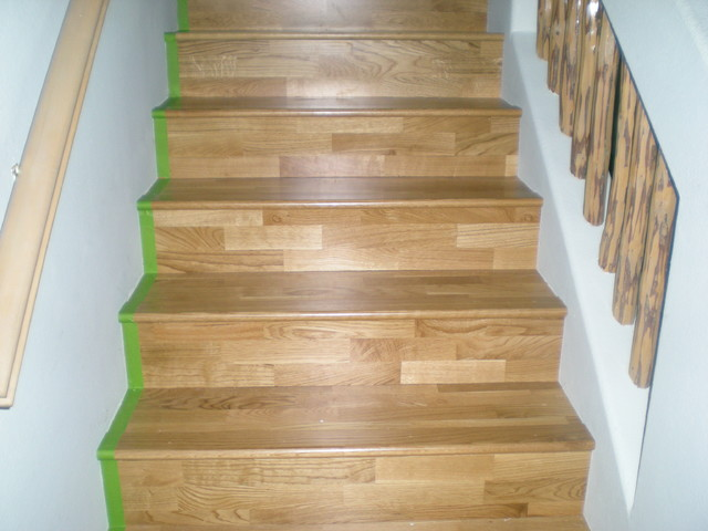 Konecto lvt stairs traditional vinyl flooring for How to install vinyl plank flooring on stairs