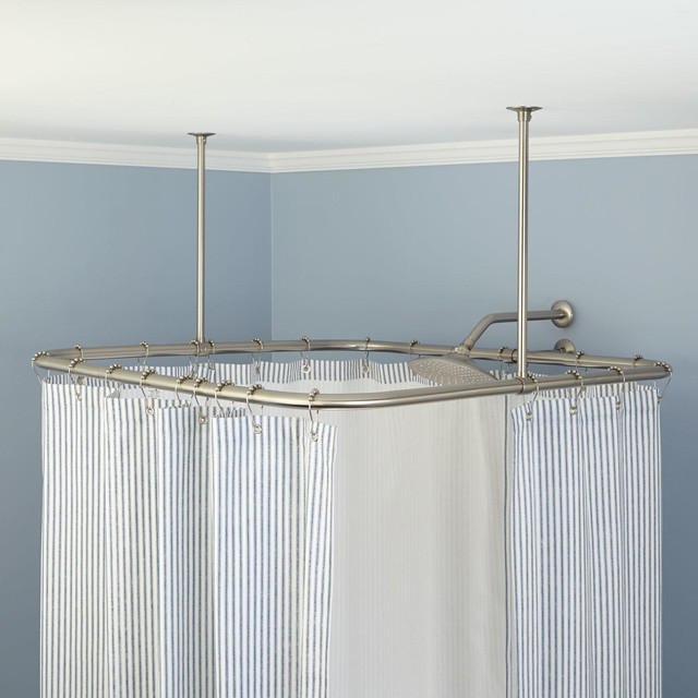 Square Ceiling Mount Shower Curtain Rod Traditional Shower Curtain Rods