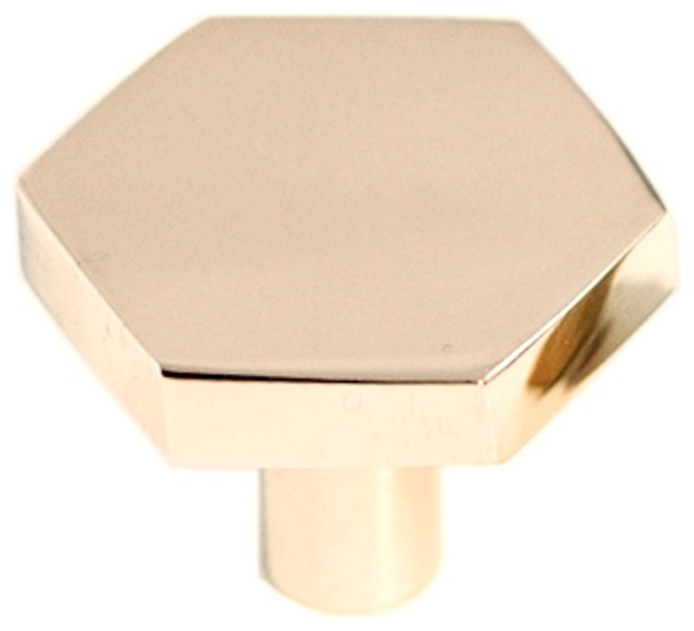 Hex Pull, Brass contemporary-cabinet-and-drawer-knobs