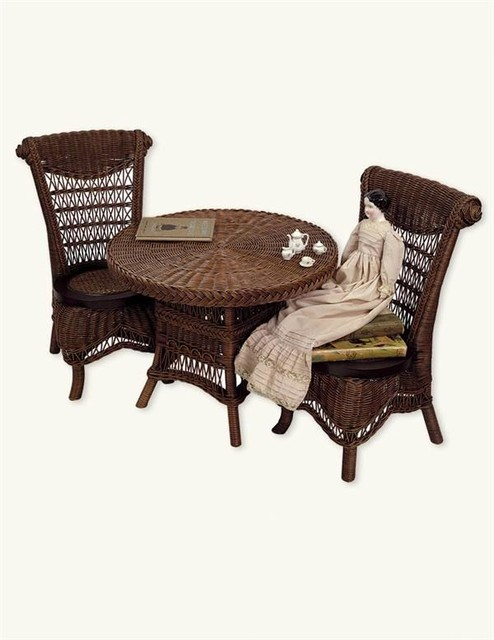 Children s wicker table amp chairs victorian baby and