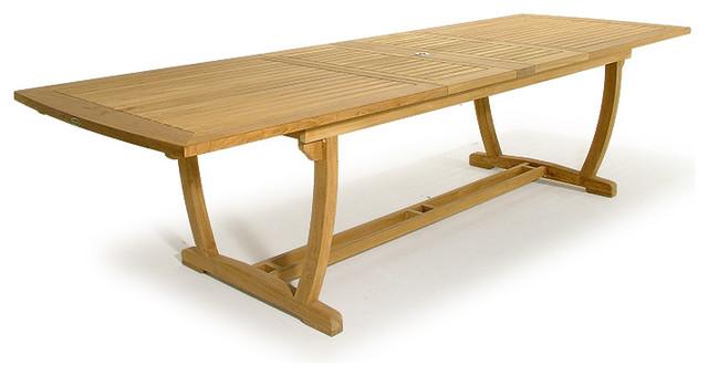 extendable teak outdoor table 1