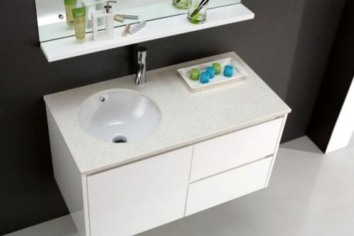Elegant Torun 1000mm Vanity  Ancient White With White Ceramic Top