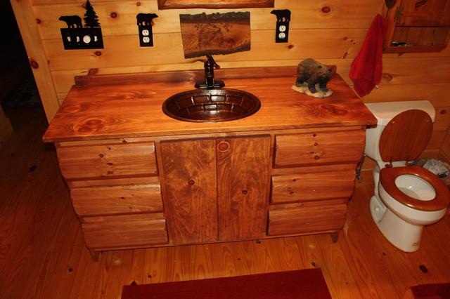 Rustic Vanity Rustic Bathroom Vanities And Sink Consoles Atlanta By W