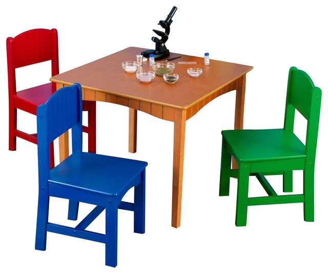 Nantucket Table & 4 Primary Chairs by Kidkraft Traditional Kids Table