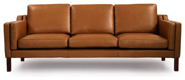 Mid Century Modern Leather Sofa | Cymun Designs