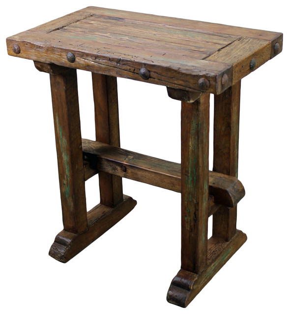 Recycled Pine Wood Sofa Table Rustic Console Tables