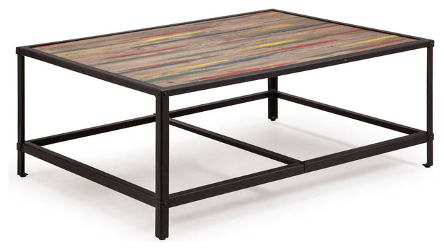 Zuo Modern Sawyer Coffee Table In Multicolor Distressed