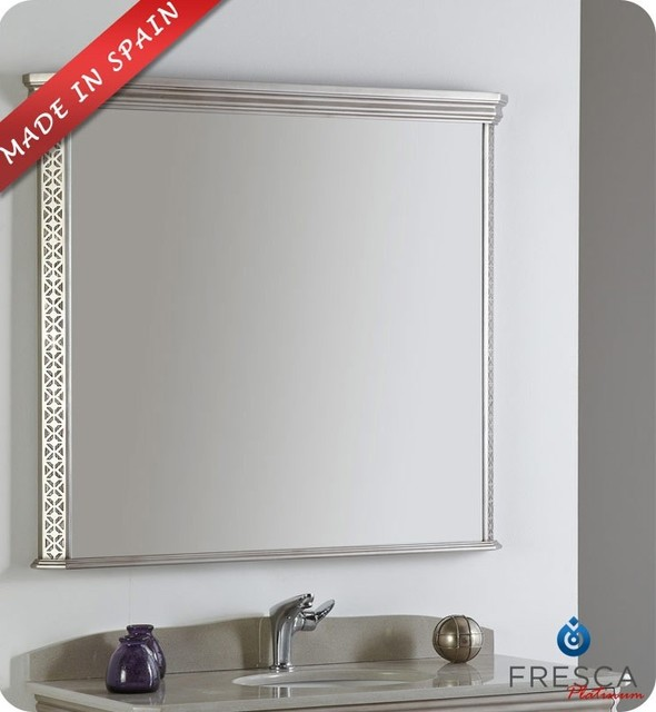 "Fresca Platinum London 39"" Bathroom Mirror Antique"