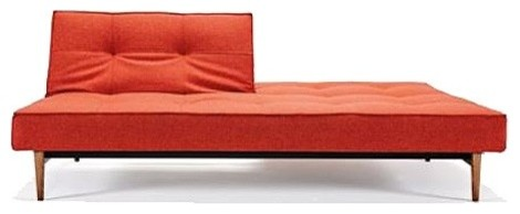 Splitback Deluxe Wood Base Sofa Modern Futons