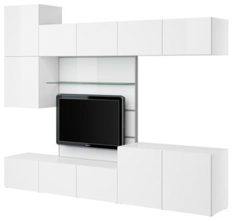 BESTÅ TV panel with media storage