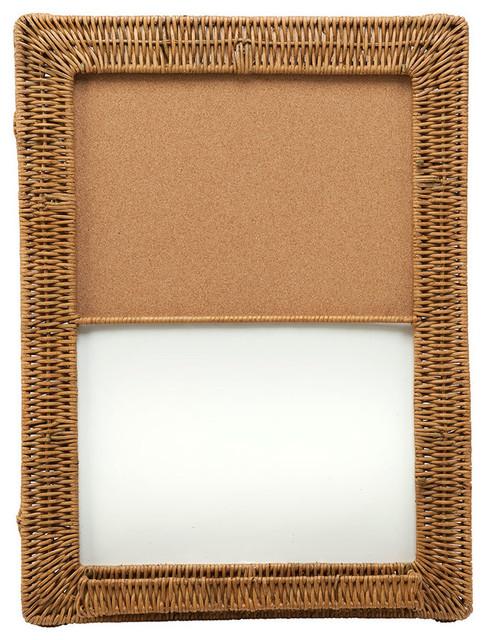 ... Cork Board With Wicker Frame tropical-bulletin-boards-and-chalkboards