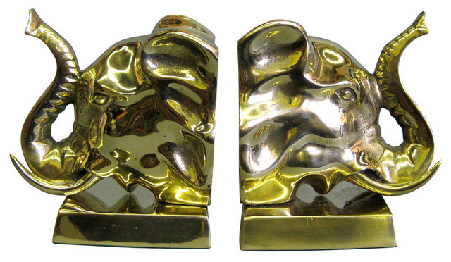 1stdibscom galerie sommerlath elephant head brass book ends home decor