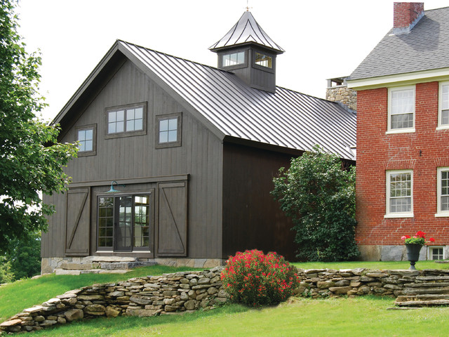 Vintage Timber Frame Barn Addition Farmhouse Exterior