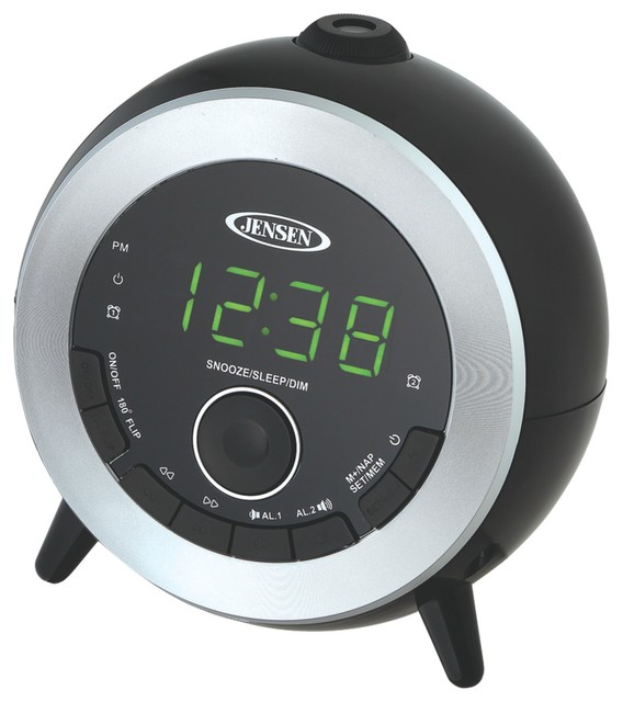 jensen dual alarm projection clock radio modern alarm clocks by petra industries llc. Black Bedroom Furniture Sets. Home Design Ideas