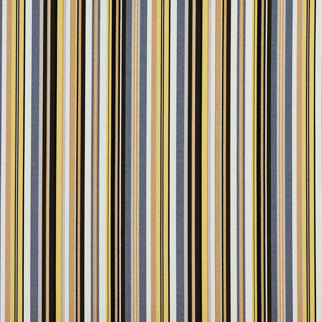 Brown, Yellow and Grey Thin Stripes Outdoor Indoor Upholstery Fabric By The Yard - Contemporary ...