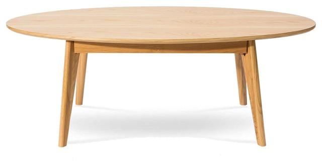 Table basse design scandinave ovale skoll couleur ch ne for Table basse scandinave couleur